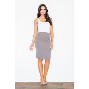 Elegantní šedá sukně pro dámy