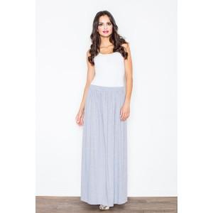 Dlouhá šedá formální sukně pro ženy