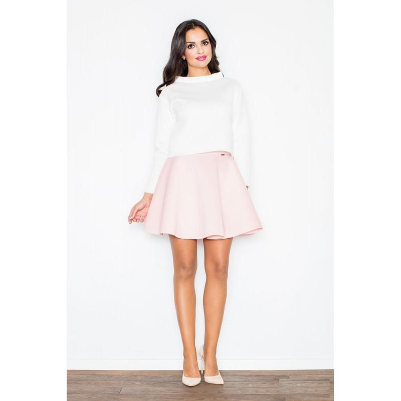 23db935385f5 Formální dámské sukně světle růžové barvy - manozo.cz