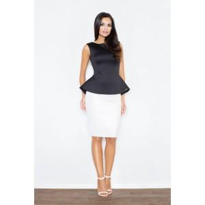 Bílé dámské formální sukně