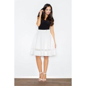 Elegantní bílé sukně s průsvitným pruhem