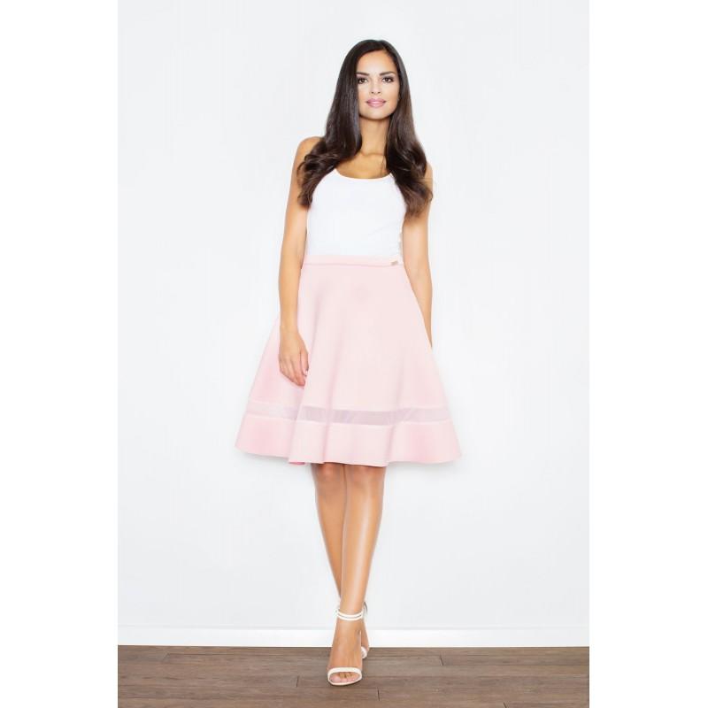 12f000d15fa3 ... Dámské společenské sukně s průsvitným pruhem růžové. Předchozí