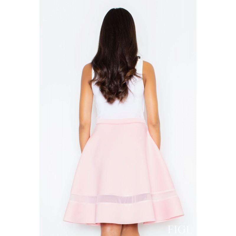 92e452969765 Dámské společenské sukně s průsvitným pruhem růžové · Dámské společenské  sukně s průsvitným ...