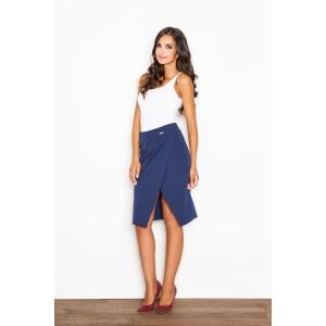 Elegantní dámská sukně v modré barvě