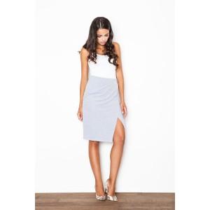Šedá dámská formální sukně
