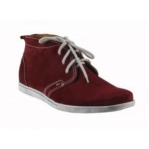 Pánské kožené boty bordové