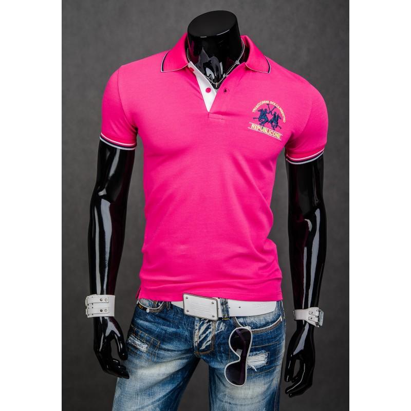 ... rukáv Pánská polokošile růžové barvy. Předchozí 042e847e62
