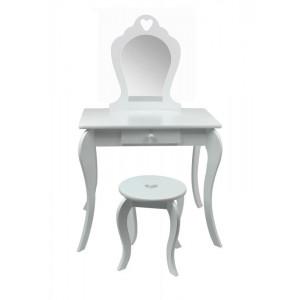 Dětský toaletní stolek na malování v bílé barvě