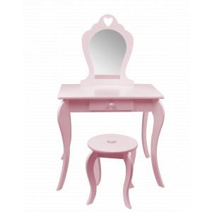 Kvalitní dětský toaletní stolek růžové barvy