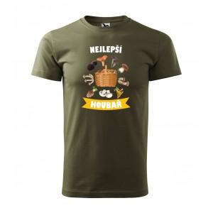 Pánské triko s krátkým rukávem s potiskem nejlepší houbař