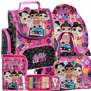 Školní taška s panenkami LOL v 4-dílné sadě