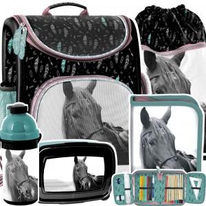 Školní 5-dílná taška s koněm