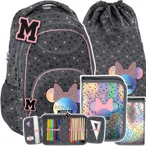 Školní batoh MINNIE MOUSE v 3-dílné sadě