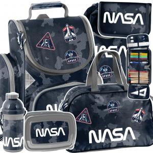 Trendy šesťčasťová školní taška NASA