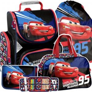 Čtyřdílná školní taška pro chlapce CARS