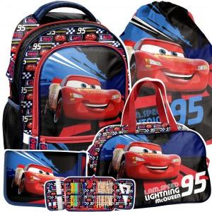 Trendový batoh CARS pro chlapce v čtyřdílné sadě