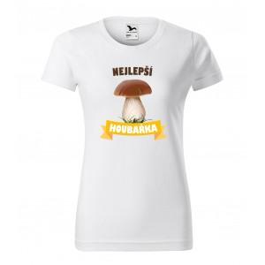 BIELE VEĽKOSŤ S Dámské triko pro vášnivou houbařku