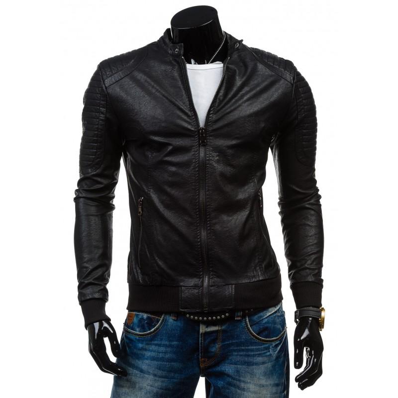Kožené bundy v černé barvě pro muže - manozo.cz 42fa67027cb