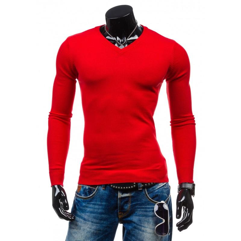 f1cf6321859 Pánský červený pulovr - manozo.cz