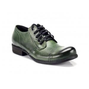 Zelené pánské kožené boty COMODO E SANO