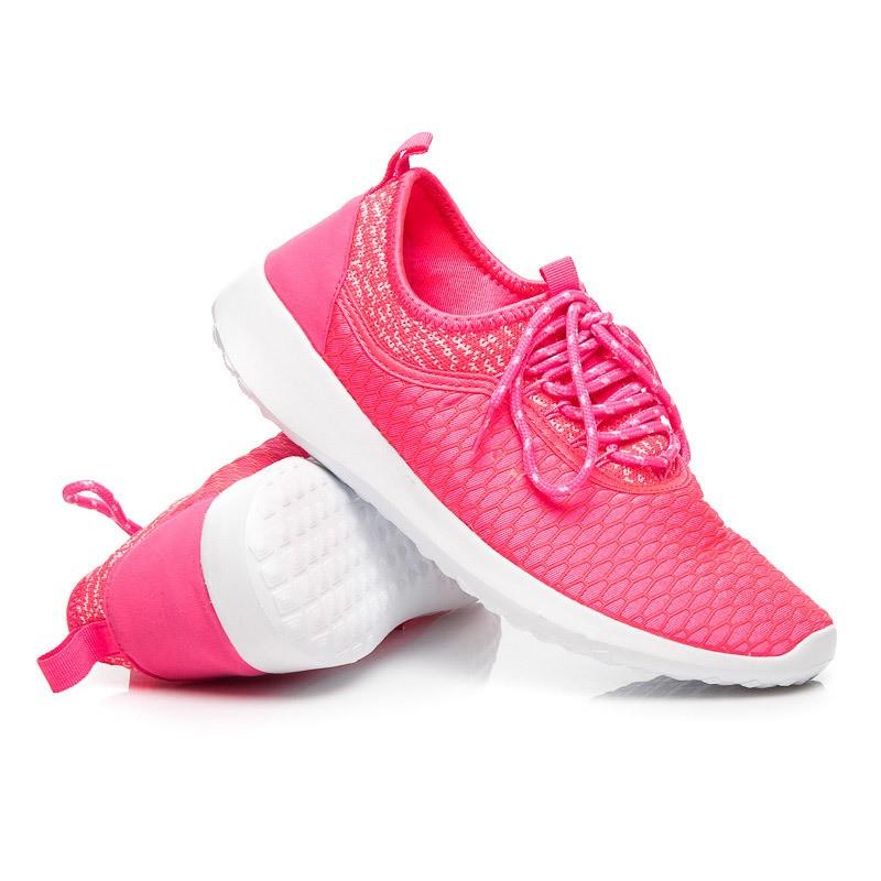 79b1303c13 Sportovní tenisky pro dámy neonové růžové barvy - manozo.cz