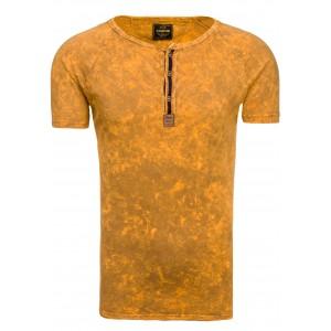 Moderní pánská trička ve žluté barvě
