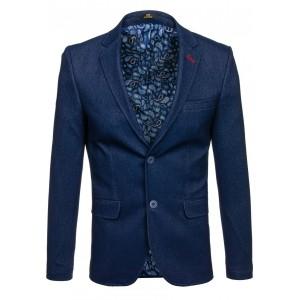 Pánské sportovní sako modré barvy