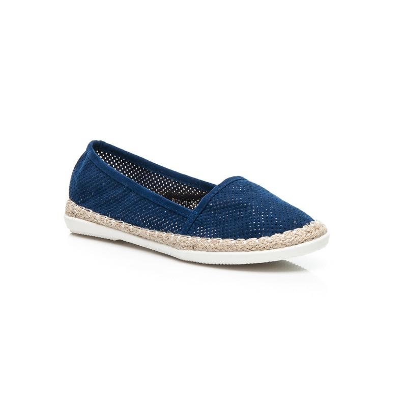 Dámská obuv modré espadrilky s pleteným copem kolem podrážky - manozo.cz bbb002614f