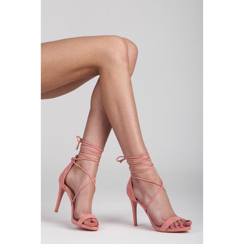 491a7b6dd2 Stylové dámské sandály v růžové barvě na šněrování - manozo.cz