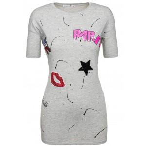 Stylové dámské tričko bíle barvy se vzorem Paris