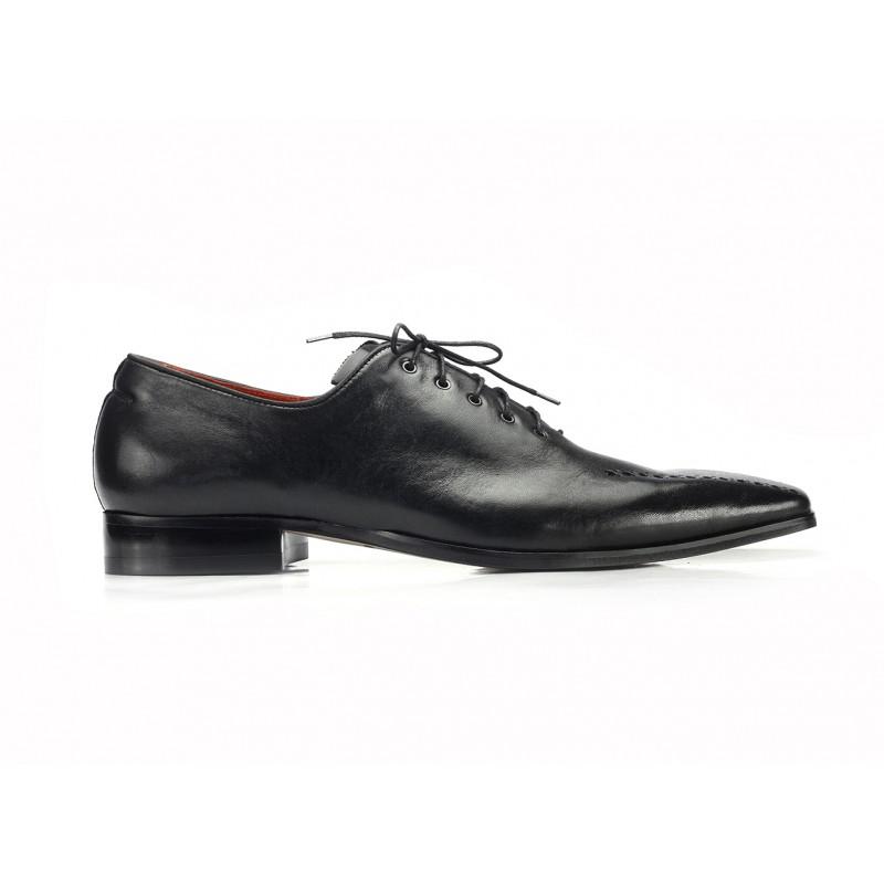 d76042914328 Pánská elegantní kožená obuv COMODO E SANO černé barvy  Pánská elegantní  kožená obuv ...