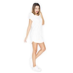 Bílé dámské šaty s kapucí