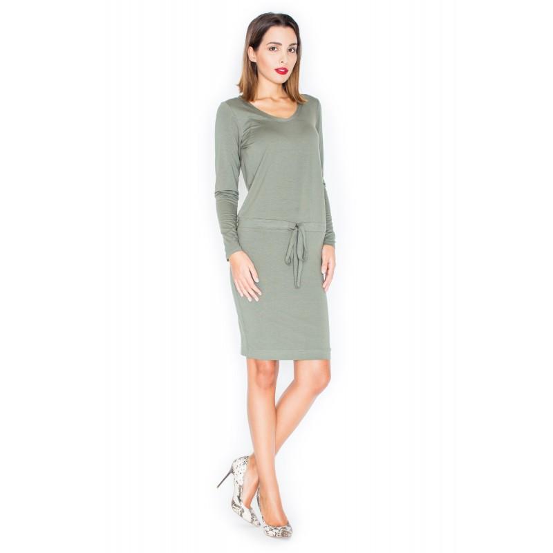 16394f179f83 ... šaty Zelené dámské pohodlné šaty s dlouhým rukávem. Předchozí