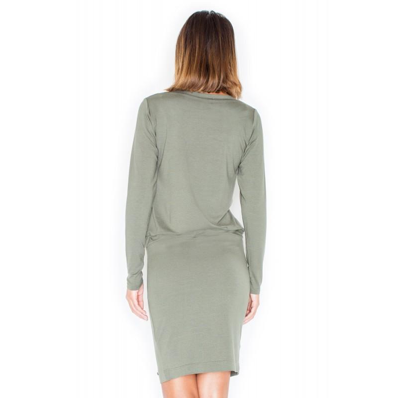 45520000f28f Zelené dámské pohodlné šaty s dlouhým rukávem · Zelené dámské pohodlné šaty  ...