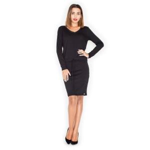Černé dámské letní šaty s dlouhým rukávem