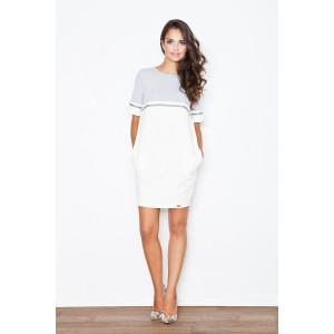 Šaty dámské sportovní bílo šedé s kapsami