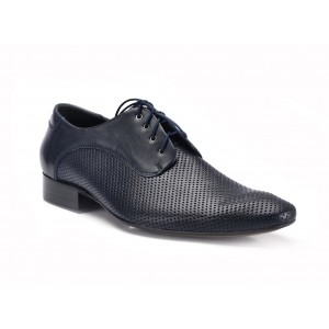 COMODO E SANO elegantní pánská kožená obuv černé barvy