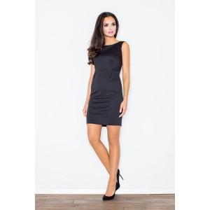 Nádherné dámské pouzdrové krátké šaty v černé barvě