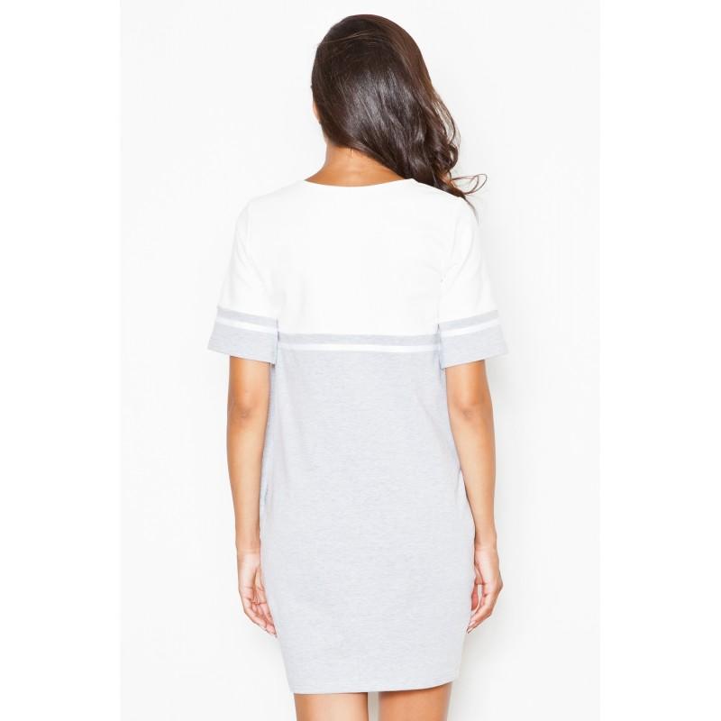 Šaty dámské sportovní šedě bílé s kapsami  Šaty dámské sportovní ... a8cd92d631