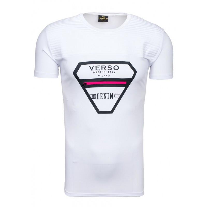 ... trička Pánské tričko bílé barvy s růžovým zipem na hrudi. Předchozí 7012e405c0