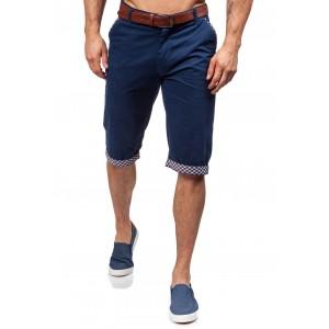 Chino tmavě modré pánské kraťasy s kapsami