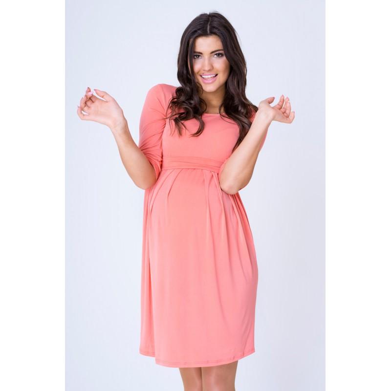 d89796cce2b7 DÁMSKÁ MÓDA Těhotenská móda Těhotenské šaty na svatbu růžové barvy.  Předchozí