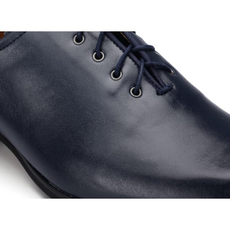 e6e4dc3f437 Pánské společenské boty tmavě modré barvy COMODO E SANO - manozo.cz
