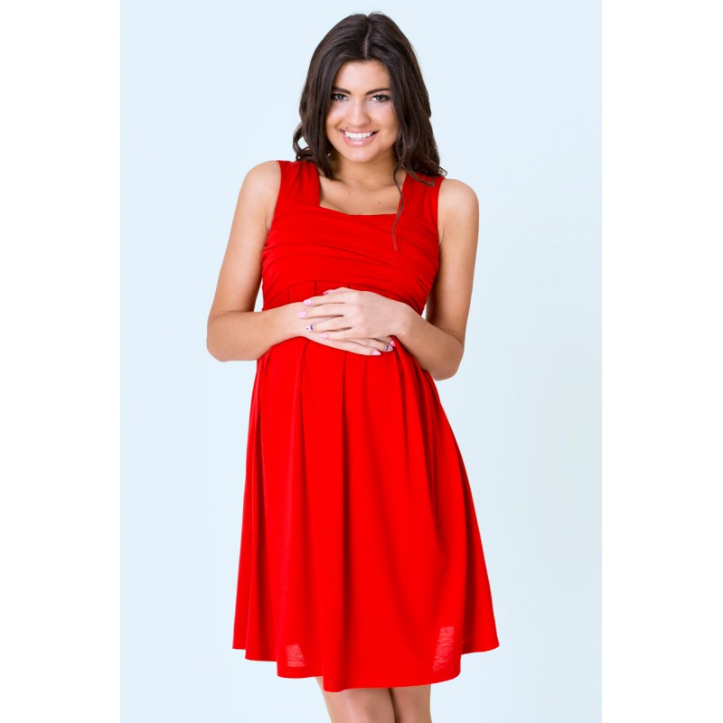 825ff147e9c DÁMSKÁ MÓDA Těhotenská móda Moderní šaty pro těhotné červené barvy.  Předchozí