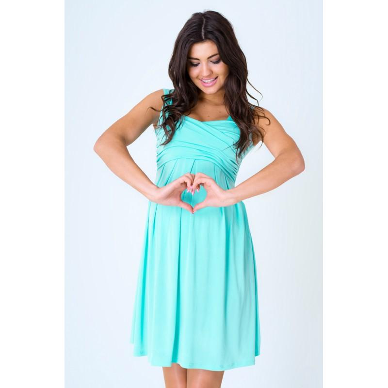 ... móda Tyrkysové šaty společenské s ramínky. Předchozí 384fa1737e7