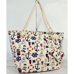 Plážové tašky přes rameno v bílé barvě