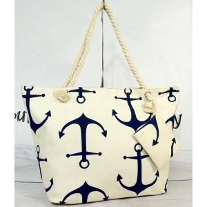 Dámská plážová taška na zip bílé barvy