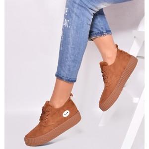 Hnědé dámské boty pro volný čas