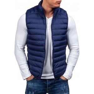 Tmavě modré vesty pro chlapce bez kapuce