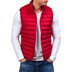 Červená pánská vesta bez rukávů